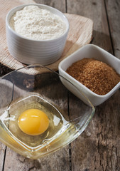egg flour sugar