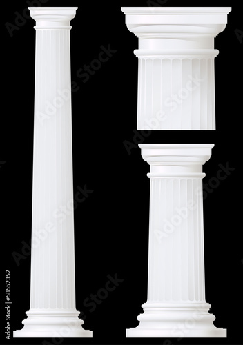 doric column set ,vector drawing
