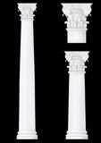 corinthian column set ,vector drawing poster