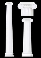 ionic column set ,vector drawing