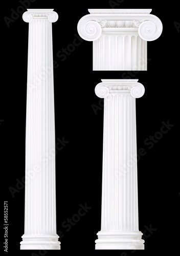 ionic column set ,vector drawing