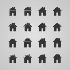 Set of houses icons, vector illustration