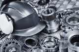 hard-hat, gears and ball-bearings, engineering
