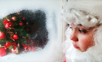 Santa look at the window