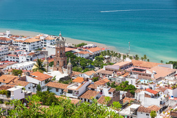 Panoramic view of downtown Puerto Vallarta
