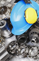 gears and ball-bearings with a hard-hat