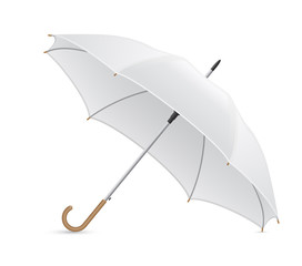white umbrella vector illustration