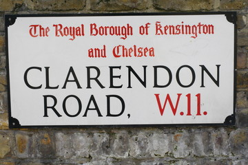 Clarendon Road in Nottinghill London