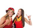 Zwei Mädchen – Deutschland Fans