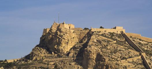 Santa Barbara Castle placed over  the mountain in Alicante