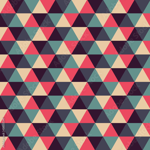 Colorful background with triangles