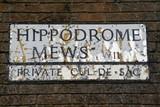 Hippodrome Mews a famous london street poster