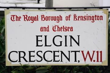 Elgin Crescent a famous london street
