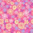seamless pattern with snowflakes on pink background