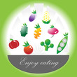 Enjoy eating vegetables set