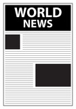 World News Newspaper First Page Template