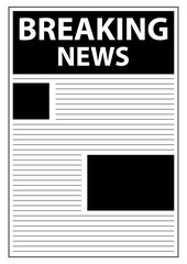 Breaking World News Newspaper First Page Template