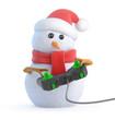 Santa snowman is a keen gamer