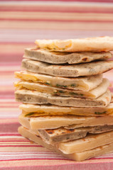 Mix of different indian breads - naan