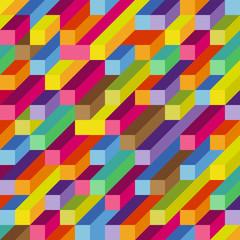 fond art cube abstrait en couleur