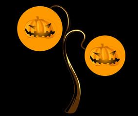 pumpkins Halloween Vector illustration