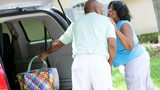 Mature African American Couple Car Beach Day