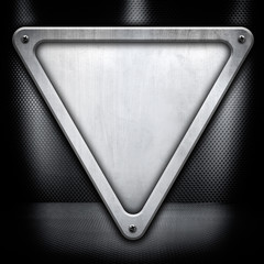 triangle metal plate