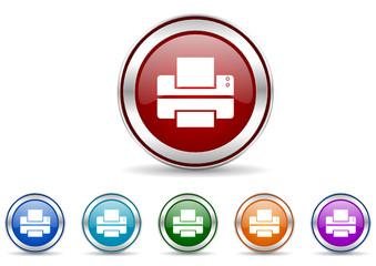 printer icon vector set