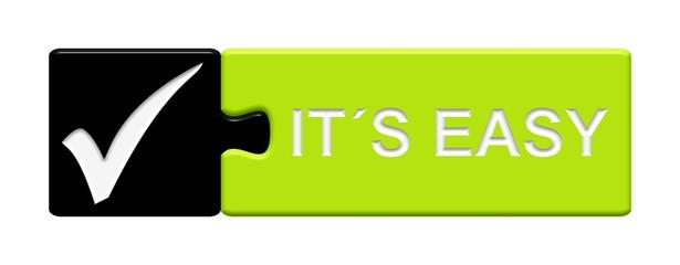 Puzzle-Button schwarz grün: It´s easy