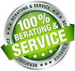 """Button Banner """"100% Beratung & Service"""" grün"""