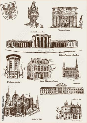 Architektur geb ude aachen stock image and royalty free for Architektur aachen
