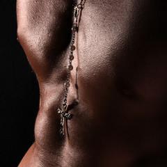 muskulös - quadratischer Hintergrund