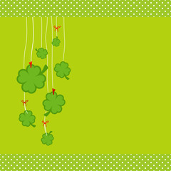 Hanging Cloverleafs Green Dots