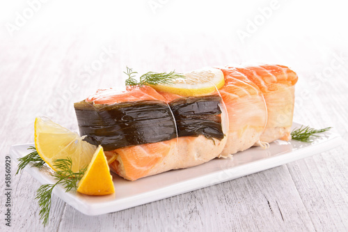 salmon garnish