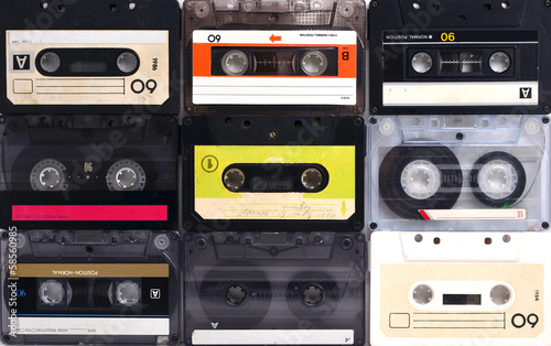 Cassette tapes background - 58560985
