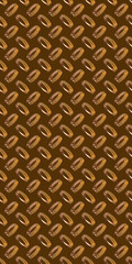 Diamond bronze toned metal background texture illuminated