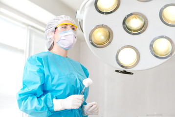 female surgeon in the operating room