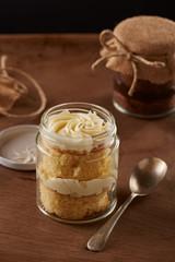 Delicious homemade jar cakes