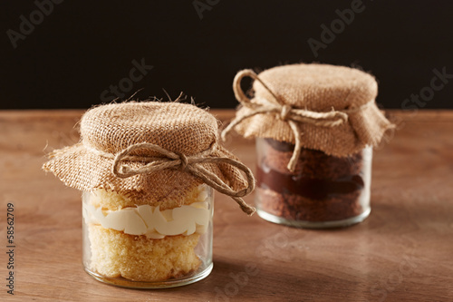 Delicious homemade jar cakes