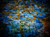 graffiti bricks wall