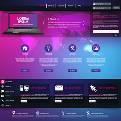 Colorful business website template design