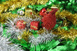 Christmas red pine tree ornaments decoration useful for backgrou
