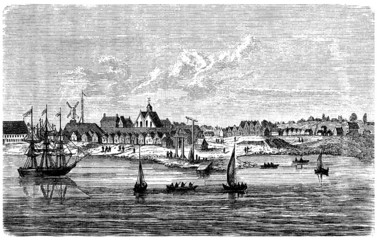 New-York (New-Amsterdam) : View 17th century