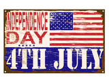 Independence Day Enamel Sign