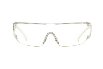 Protective eyeglasses (with clipping path) isolated on white
