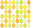 48 Easter Eggs Pattern Yellow/Orange/Green