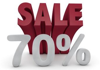 70 Prozent %