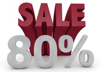 80 Prozent %