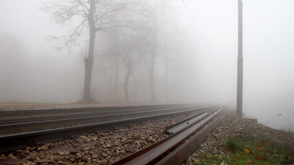 Train in the fog