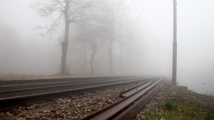 Train in the fog